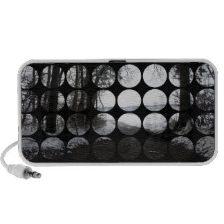 Winter Polka Dots Forest Archway iPhone Speakers