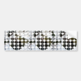 Winter Polka Dots Forest Reflection Bumper Sticker