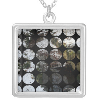 Winter Polka Dots Forest Reflection Pendants