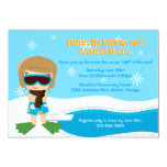 """Winter Pool Party Invite 5"""" X 7"""" Invitation Card"""