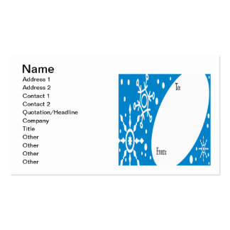 Winter Present Tag Pack Of Standard Business Cards