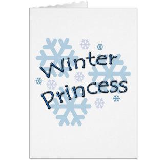 Winter Princess Greeting Card
