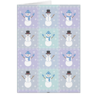 Winter Quilt Greeting Card