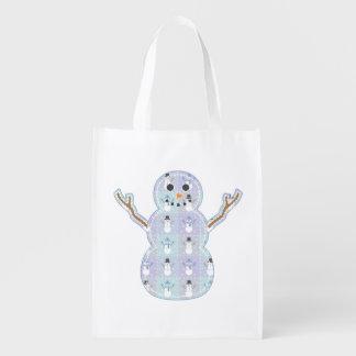 Winter Quilt Reusable Grocery Bag