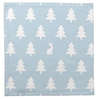 Winter Rabbit Pattern Napkin
