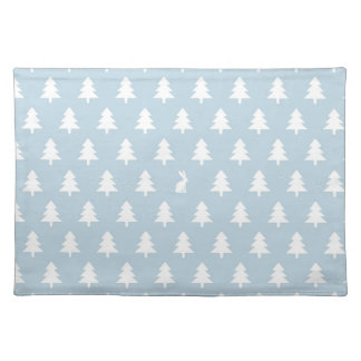 Winter Rabbit Pattern Placemat