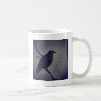 winter raven coffee mug