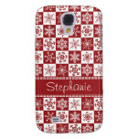 Winter Red and White Snowflakes Christmas Pattern Galaxy S4 Case
