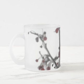 Winter Red Berries, 3 Frosted Glass Coffee Mug