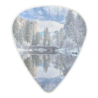 Winter Reflection at Yosemite Acetal Guitar Pick