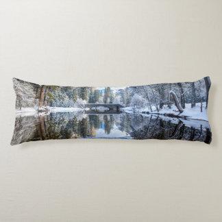 Winter Reflection at Yosemite Body Cushion