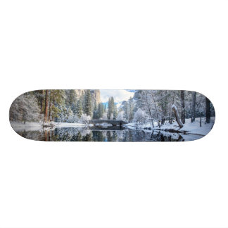 Winter Reflection at Yosemite Custom Skate Board