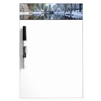 Winter Reflection at Yosemite Dry Erase Board