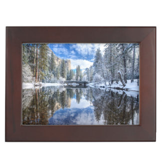 Winter Reflection at Yosemite Keepsake Box
