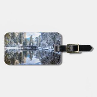 Winter Reflection at Yosemite Luggage Tag