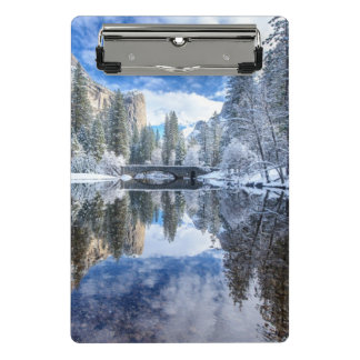 Winter Reflection at Yosemite Mini Clipboard