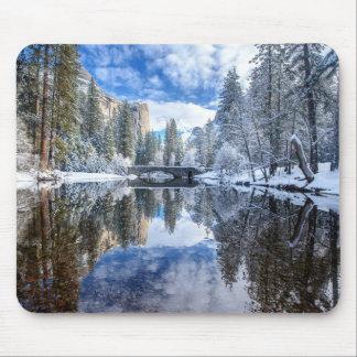 Winter Reflection at Yosemite Mouse Mat