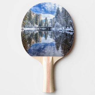 Winter Reflection at Yosemite Ping Pong Paddle