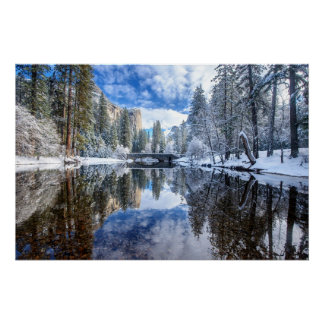 Winter Reflection at Yosemite Poster