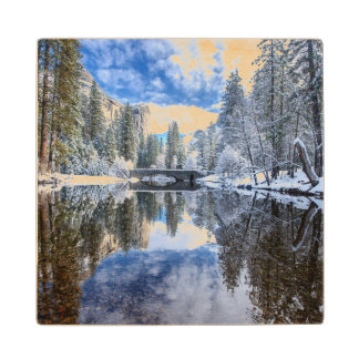 Winter Reflection at Yosemite Wood Coaster