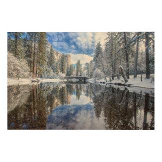Winter Reflection at Yosemite Wood Wall Decor