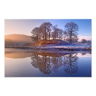 Winter reflections - The Lake District Photo Print