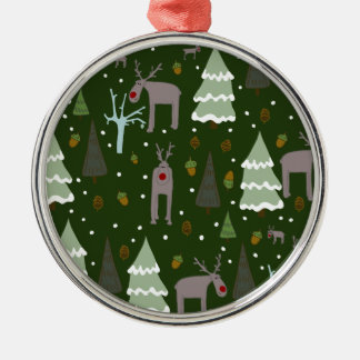 Winter Reindeer Christmas Ornament