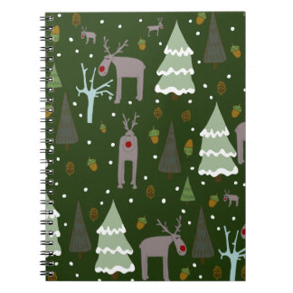 Winter Reindeer Note Books