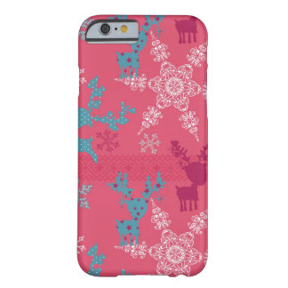 Winter Reindeer Pattern Barely There iPhone 6 Case