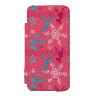 Winter Reindeer Pattern Incipio Watson™ iPhone 5 Wallet Case