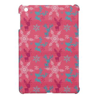 Winter Reindeer Pattern iPad Mini Case