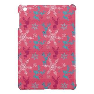 Winter Reindeer Pattern iPad Mini Cover