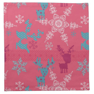 Winter Reindeer Pattern Napkin