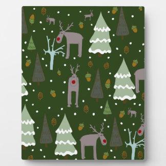 Winter Reindeer Plaque