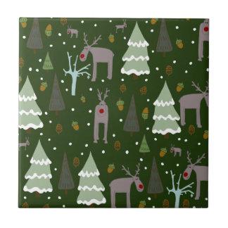 Winter Reindeer Tile