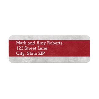 Winter Return Address Labels