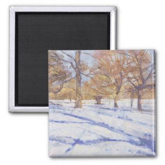 Winter Richmond Park Square Magnet