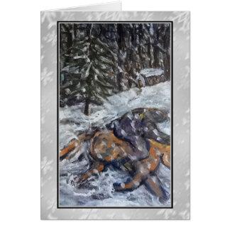 Winter Ride Art Card