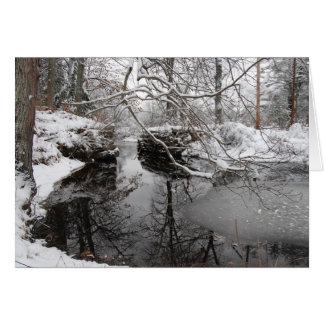 Winter River Card