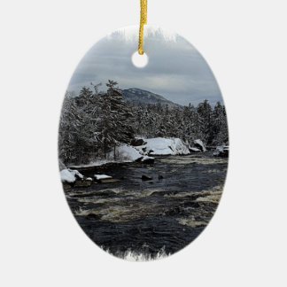 Winter River Christmas Ornament