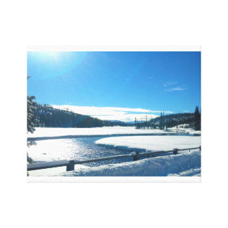 Winter River in Yellowstone Canvas Print