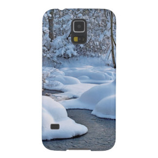 Winter river with snow galaxy s5 cases