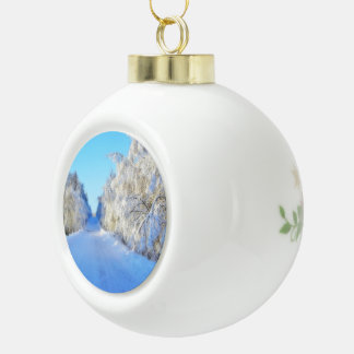 Winter Road Ceramic Ball Decoration