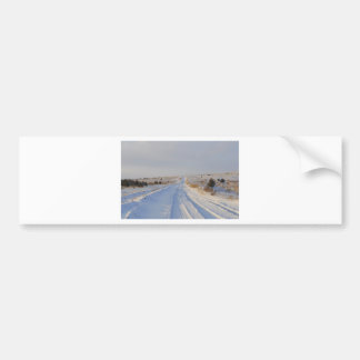 Winter Road in the Fields Bumper Sticker