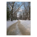 Winter Road Photography Greeting Card
