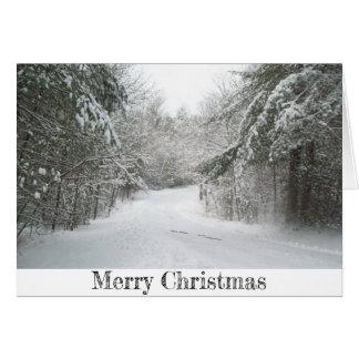 Winter Road Scene Greeting Card