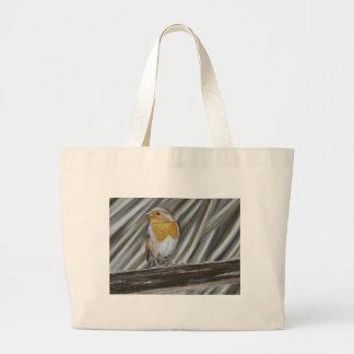 Winter Robin Canvas Bag