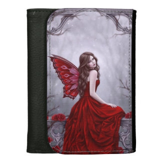 Winter Rose Butterfly Fairy Medium Wallet