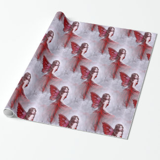 Winter Rose Butterfly Fairy Wrapping Paper