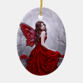 Winter Rose Fairy Art Ornament